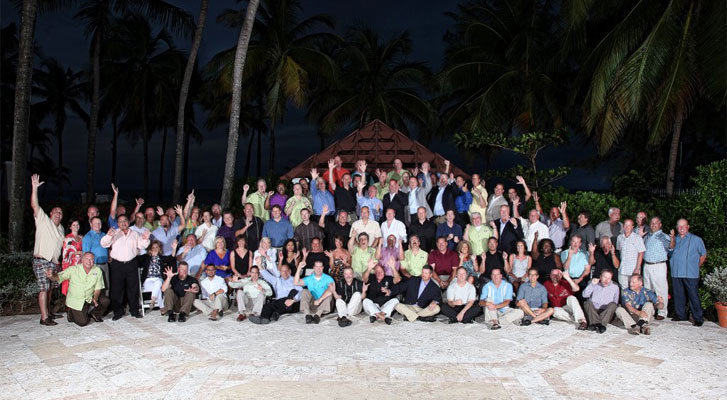 Image: Recognized employees enjoy a beautiful outting on the tropics. Employee recognition programs developed by Benchmarc360.