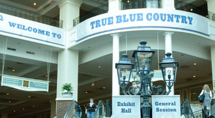 Image: True Blue Country event at convention center. Exibit Halls and General Session. Event branding services by Benchmarc360.