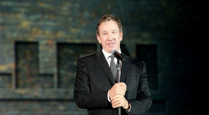 Image: Tim Allen speaking at a corporate event. Conference and event speaker selection services by Benchmarc360.