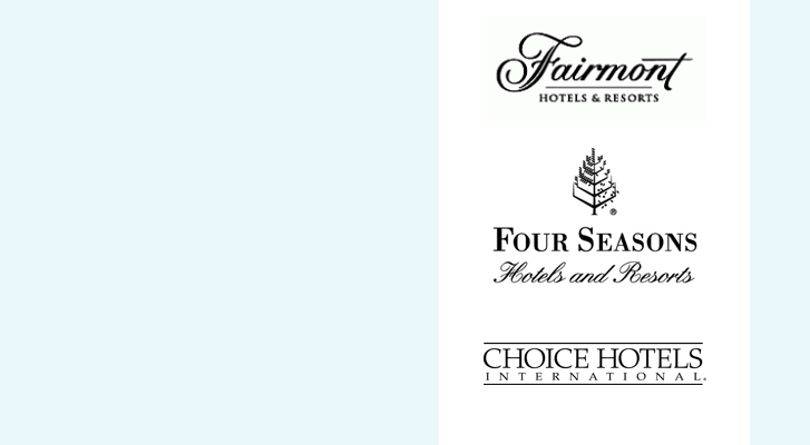 Image: Fairmont, Four Seasons, and Choice Hotels - Benchmarc360 Event housing planning services.