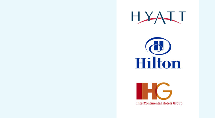 Image: Hyatt, Hilton, and InterContinental Hotels Group - Benchmarc360 Event housing planning services.